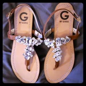 G by Guess NWOT jeweled sandals size 8.5